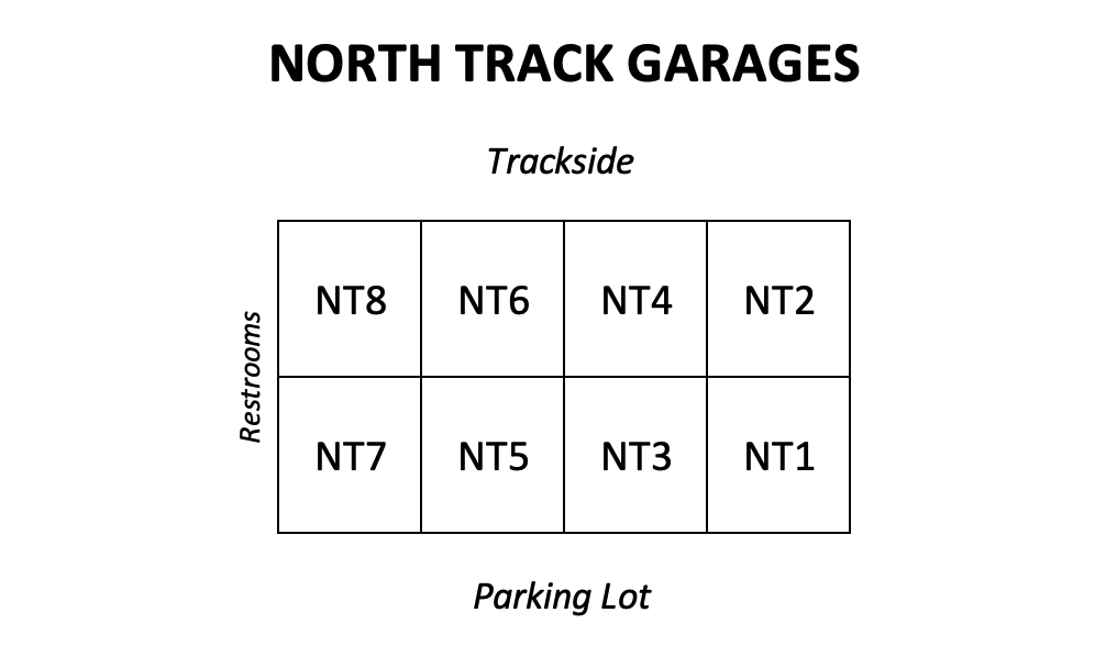 North Track Garage Layout