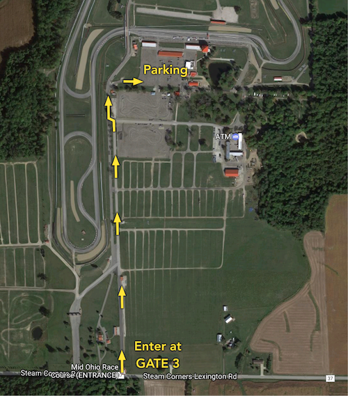 Mid-Ohio enter at gate 3