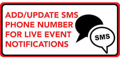 Update SMS Phone Number for Live Event Notifications