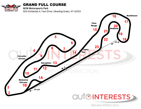 NCM Motorsports Park Grand Full Course Track Map